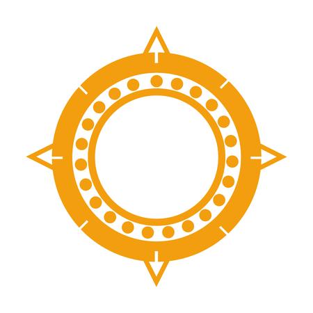 sun aztec culture traditional symbol
