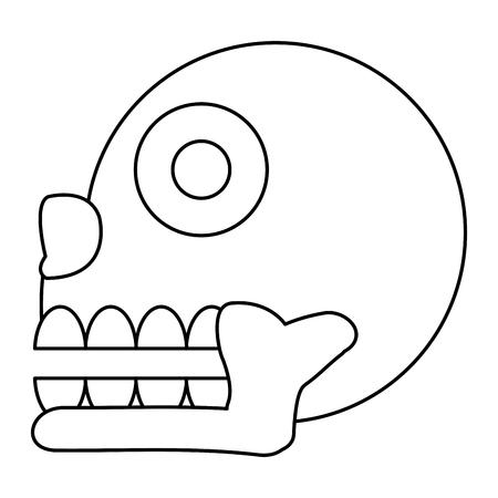 line miquizhi death indigenous culture symbol vector illustration