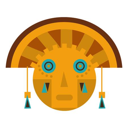 Aztec sculpture traditional symbol
