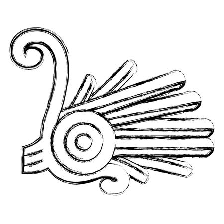 grunge indigenous alt native culture symbol vector illustration Illustration