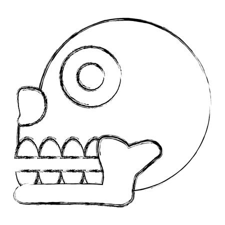 grunge miquizhi death indigenous culture symbol vector illustration