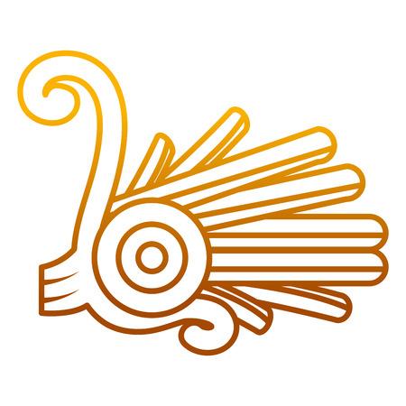 degraded line indigenous alt native culture symbol vector illustration