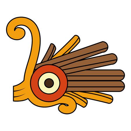 color indigenous alt native culture symbol vector illustration