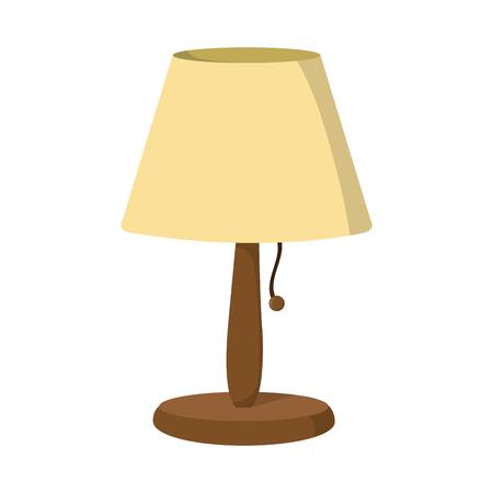 Elektrische lamp om objecten decoratieve illustratie aan te steken. Stock Illustratie