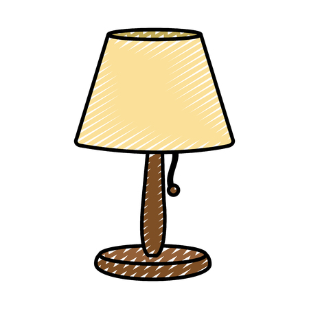 doodle electric lamp to light object decorative Vector illustration. Stock Illustratie