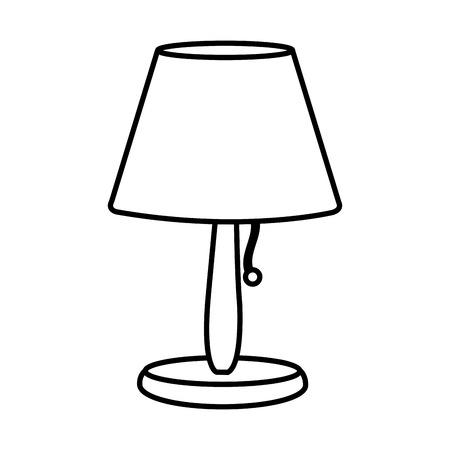 ligne lampe électrique à la lumière objet décoratif illustration vectorielle.