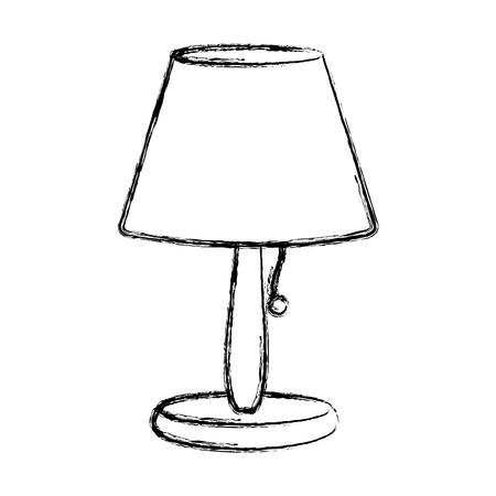 grunge elektrische lamp om decoratief voorwerp aan te steken Stock Illustratie