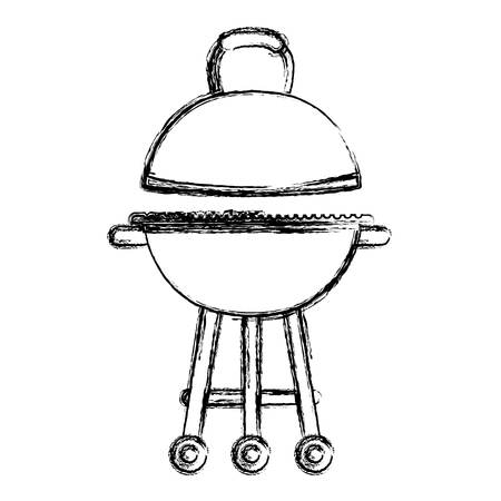 grunge bbq grill object to food nutrition