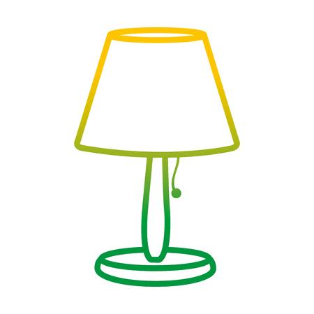 gedegradeerde lijn elektrische lamp om decoratief object te verlichten Stock Illustratie