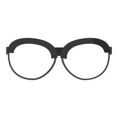 frame optical glasses object style vector illustration