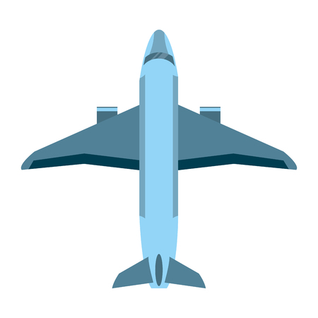 airplane delivery travel transportation with turbines vector illustration Vectores