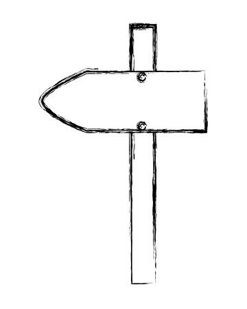 grunge wood road direction notice sign vector illustration