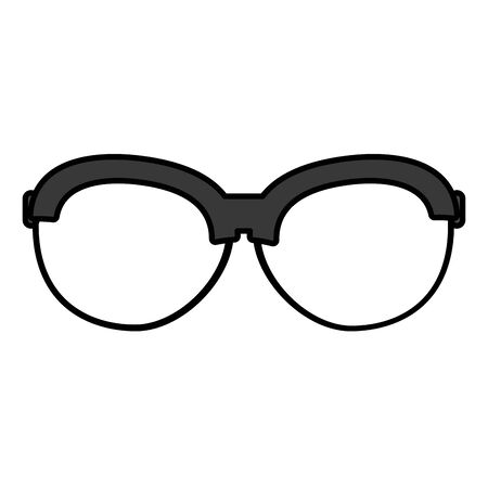 color frame optical glasses object style vector illustration