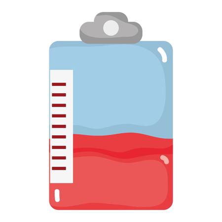 medical bag blood donation transfusion Vector illustration. Иллюстрация