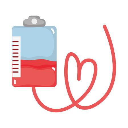 bag blood donation emergency transfusion Vector illustration. Vectores