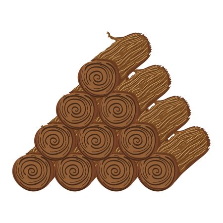 natural wooden logs organic texture Vector illustration.
