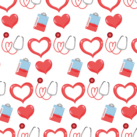 Blood donation transfusion event background illustration.