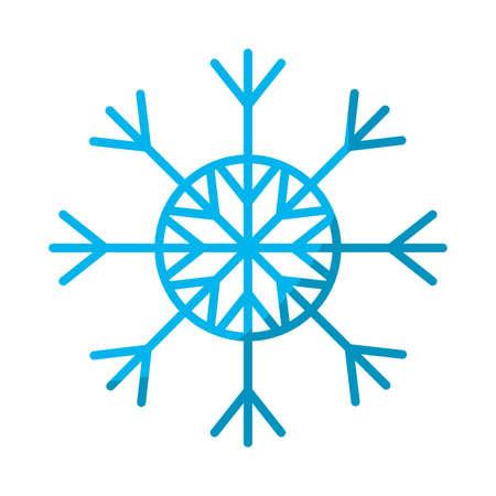冬の季節の自然な雪片スタイルベクターイラスト。  イラスト・ベクター素材