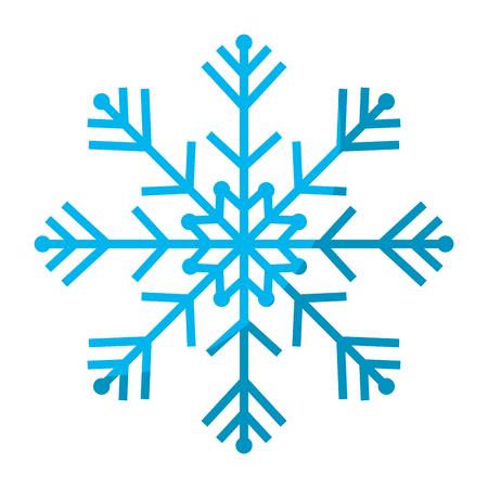 natural snowflake design in winter season Vector illustration.
