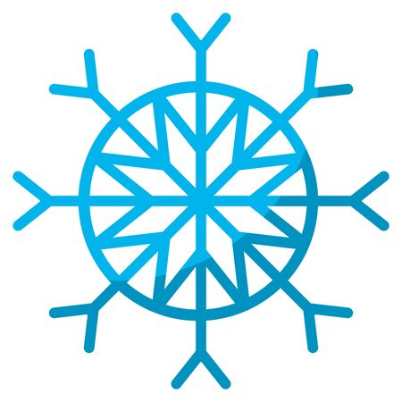 A snowflake style in natural winter season
