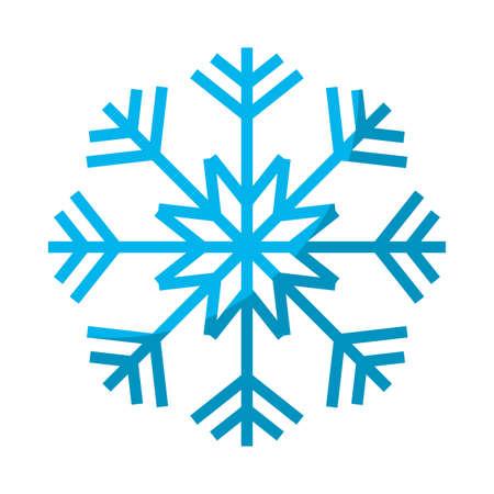 Nature snowflake style in winter season illustration.