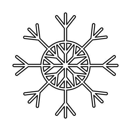 冬のシーズンのライン自然な雪片スタイルベクターイラスト。