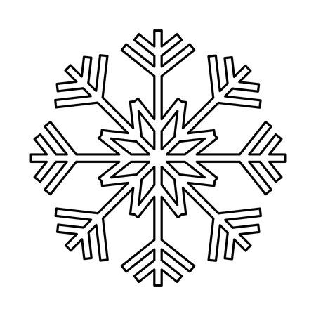 冬の季節にライン自然雪片スタイル。