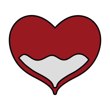color heart with blood inside to donation treatment event vector illustration