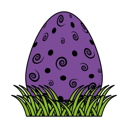 color egg easter event with spiral decoration vector illustration Illustration