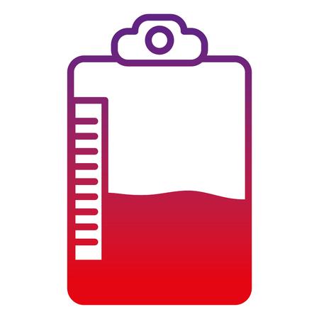 Degraded line medical bag blood donation transfusion. 일러스트