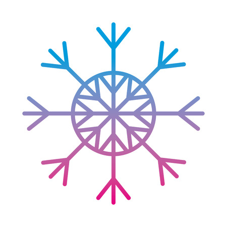 degraded line natural snowflake style in winter season vector illustration  イラスト・ベクター素材