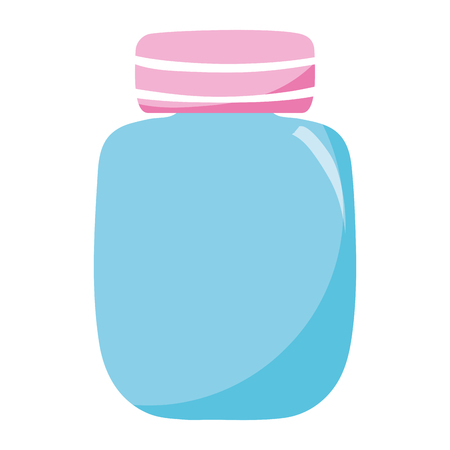 cute clean bottle glass object vector illustration Illustration