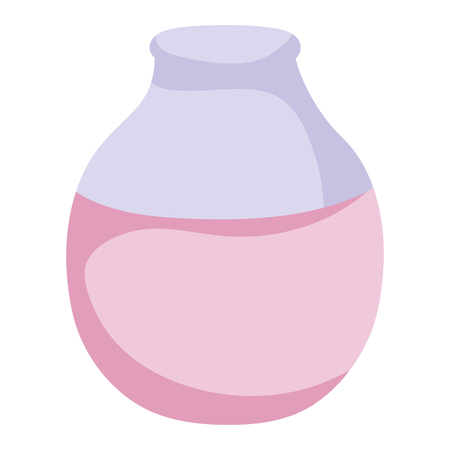 Purple glass bottle illustration Çizim