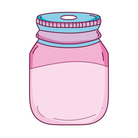 Bottle glass object design illustration