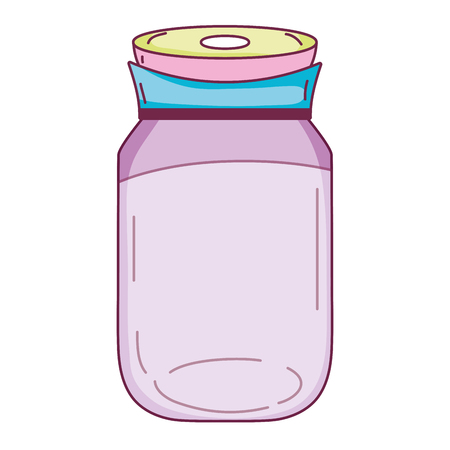 transparent crystal bottle object design Illustration