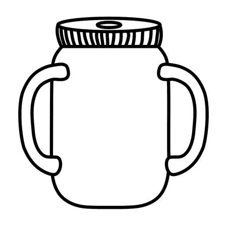 line preserve bottle glass object design vector illustration Illustration
