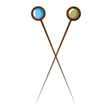 fashion pins sewing chishion textile Illustration