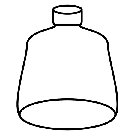 line nice and clean glass bottle object style