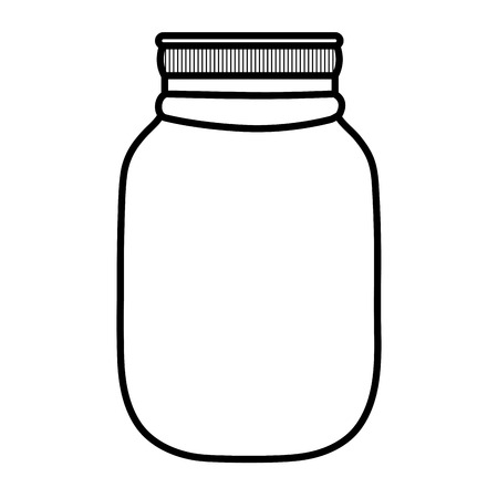 line fragile glass bottle preserve object Illustration