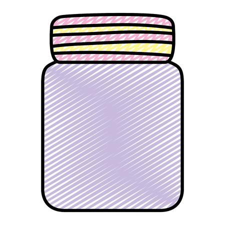 doodle cute glass bottle object style Ilustracja