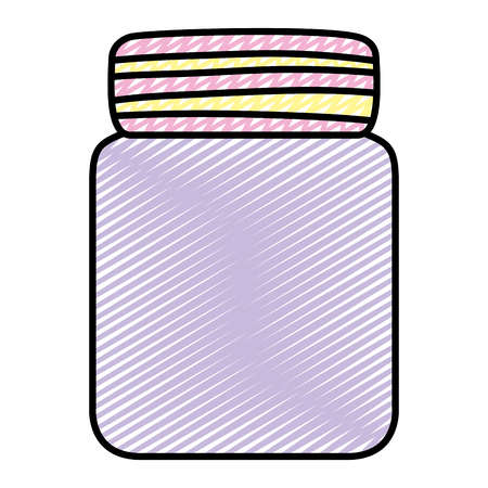 doodle cute glass bottle object style Illustration