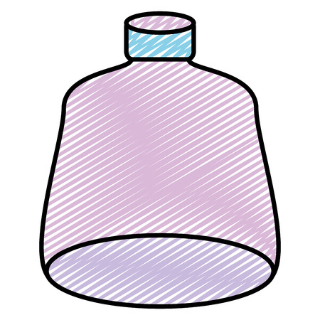 doodle nice and clean glass bottle object style