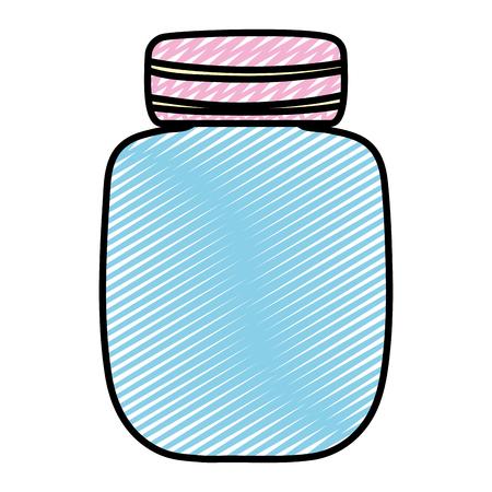 doodle cute clean bottle glass object