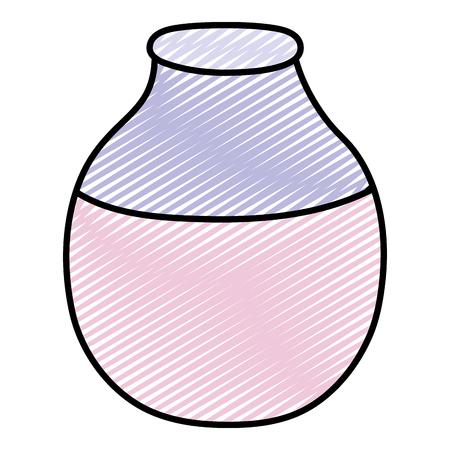 doodle cute glass bottle clean object