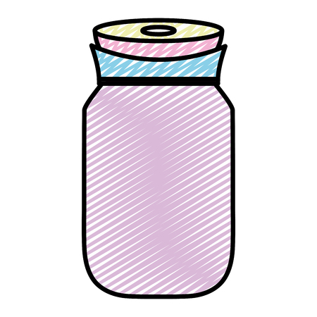 doodle transparent crystal bottle object design Çizim