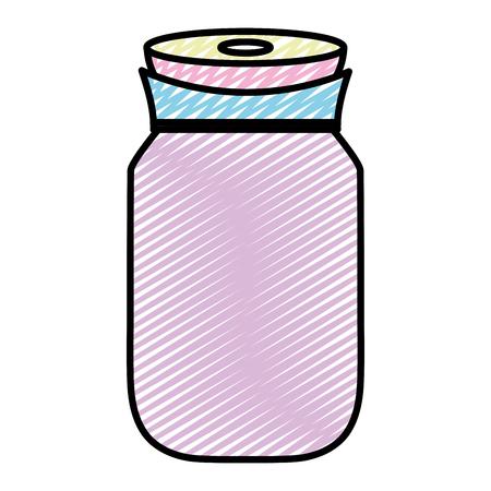 doodle transparent crystal bottle object design Illustration