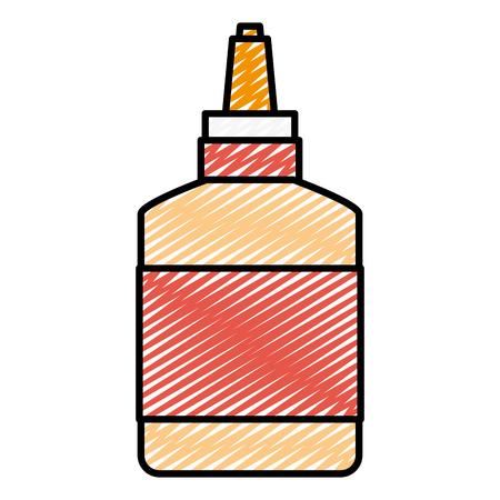 doodle creative glue school tool to homework Ilustração Vetorial