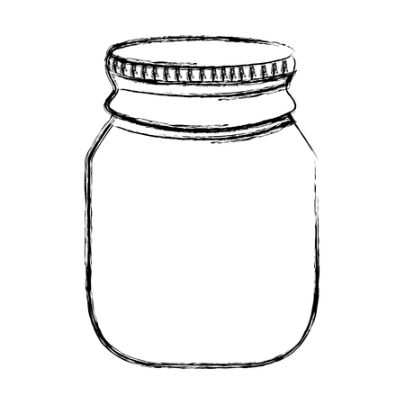 grunge transparent bottle glass object design Illustration