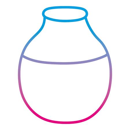 degraded line cute glass bottle clean object Ilustracja