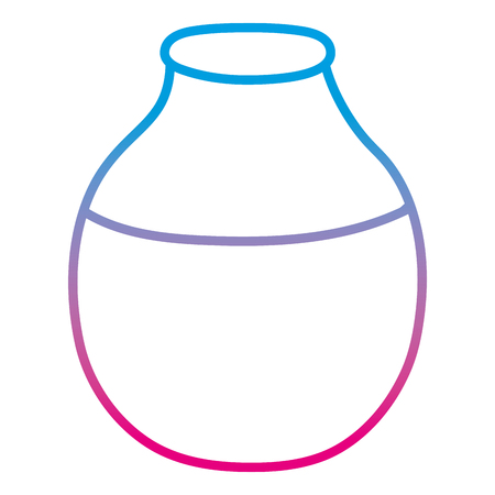 degraded line cute glass bottle clean object Illustration